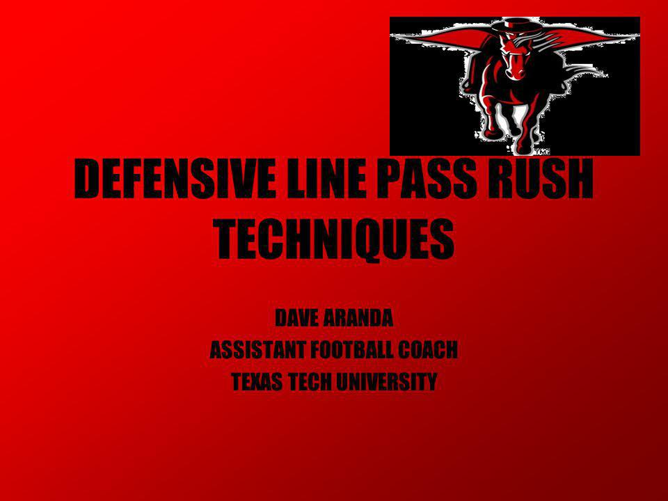 PASS RUSH DRILLS TURN THE EDGE DRILL –START ON BALL MOVEMENT –RUN & LEAN AROUND CIRCLE (DIP I/S HIP & SHOULDER) TOES IN –ADD ANOTHER PLAYER I/S CIRCLE (PRE-FIT) TURN OL HIPS –WIDE ALIGNMENT –START ON BALL MOVEMENT –READ SET OF TACKLE (QUICK/DEEP SET)