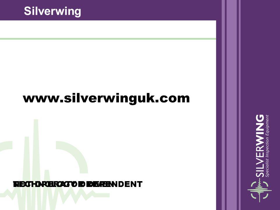 www.silverwinguk.com NOT OPERATOR DEPENDENTTECHNOLOGY DRIVEN Silverwing