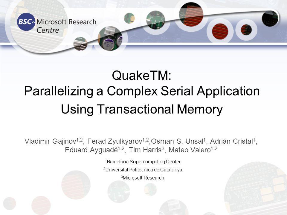 2 Outline Introduction & motivation Quake description Parallelization Results Conclusion