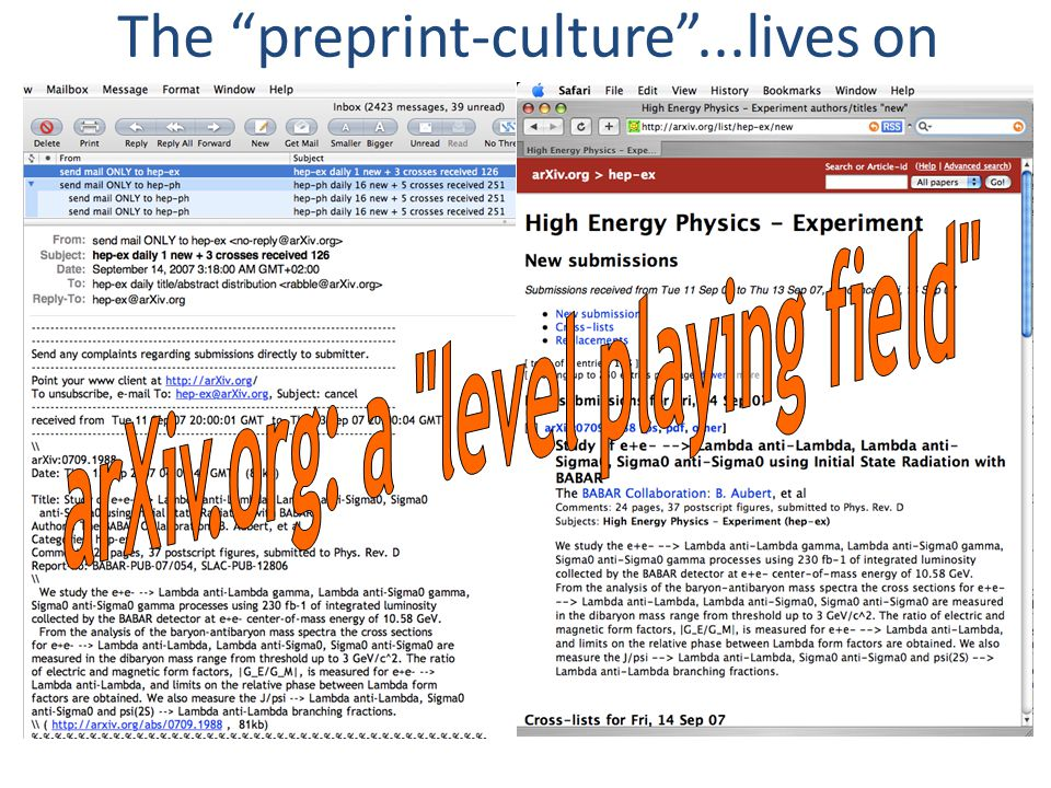 The preprint-culture ...lives on