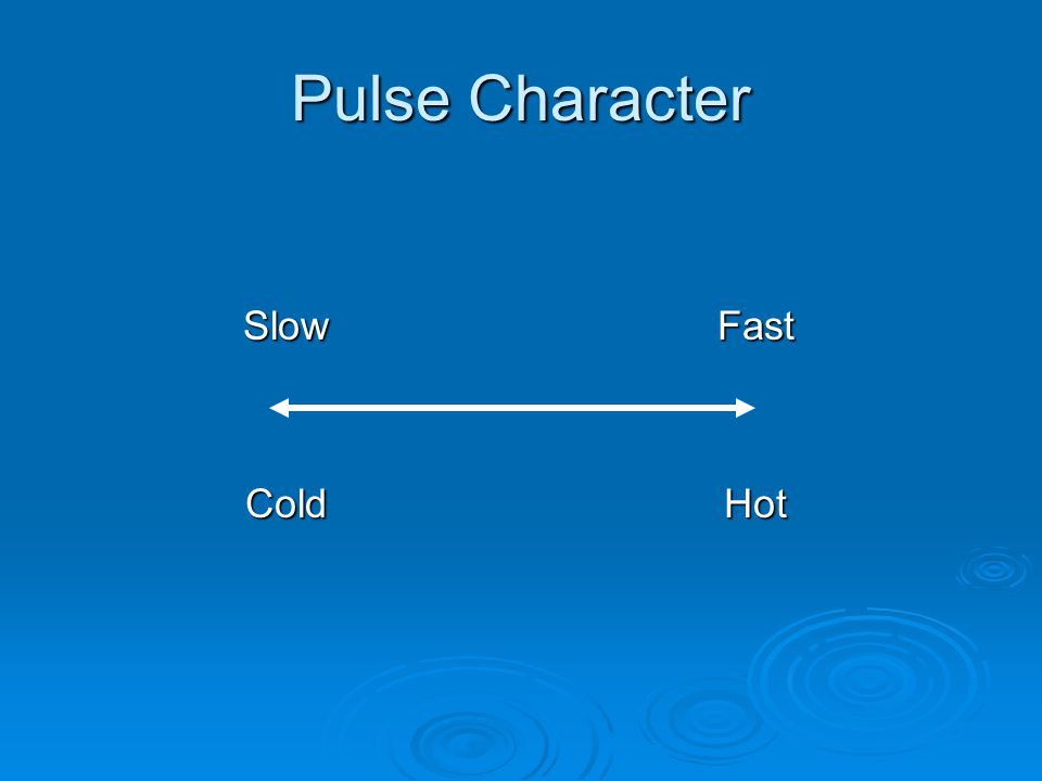 Pulse Character SlowFast ColdHot