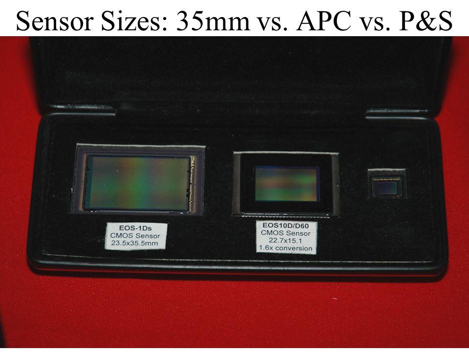 Sensor Sizes: 35mm vs. APC vs. P&S