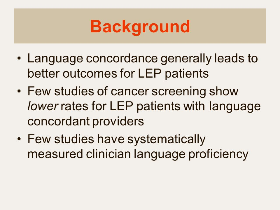 Study Objective To evaluate the accuracy of a structured self-assessment of non-English language proficiency compared to a validated oral proficiency interview for clinicians.