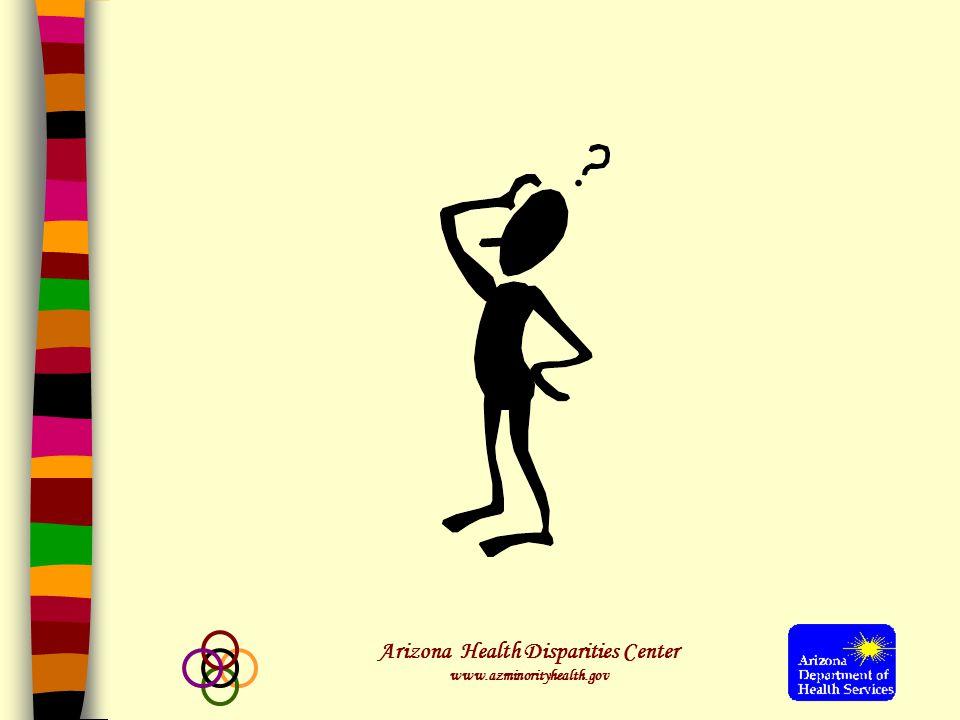Arizona Health Disparities Center www.azminorityhealth.gov