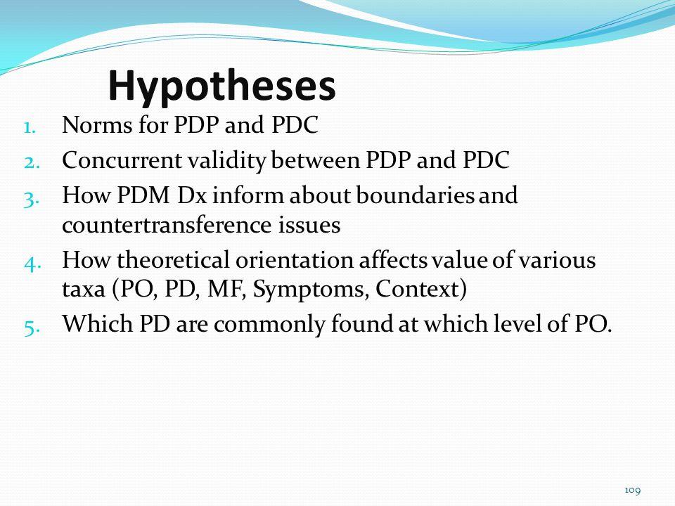 The validation of Psychodynamic Diagnostic Prototypes (PDP; Gazzillo, Lingiardi, Del Corno, 2010) The Prototypic Assessment of the Psychodynamic Diagn