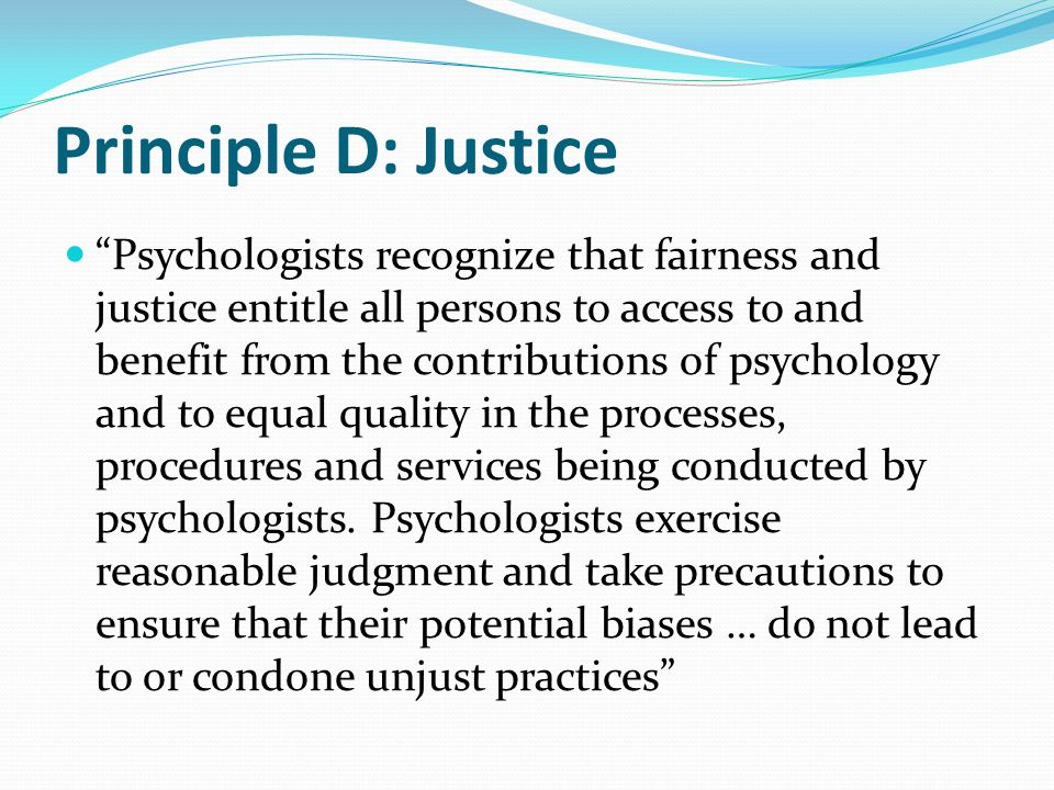 """Principle C: Integrity """"Psychologists seek to promote accuracy, honesty, and truthfulness in the science, teaching and practice of psychology"""" Insuran"""