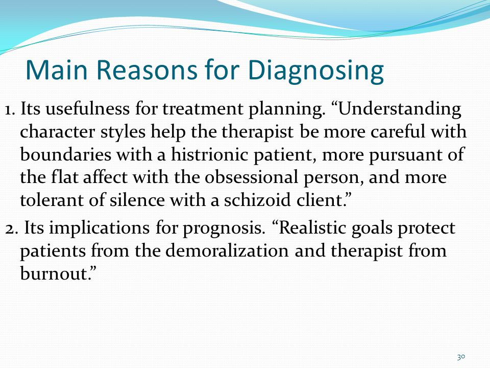 """Start with a good diagnostic formulation """"Once I have a good feel for the person, the work is going well, I stop thinking diagnostically and simply im"""