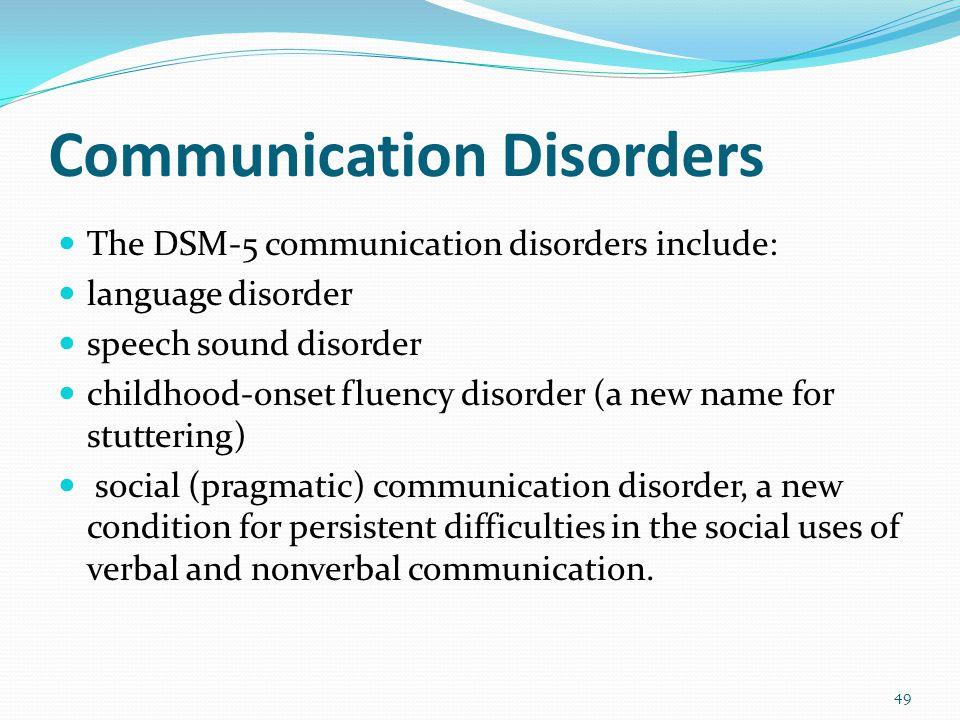 Autism Spectrum Disorder (ASD) Consolidation of DSM-IV criteria for autism, Asperger's, childhood disintegrative disorder, and pervasive developmental