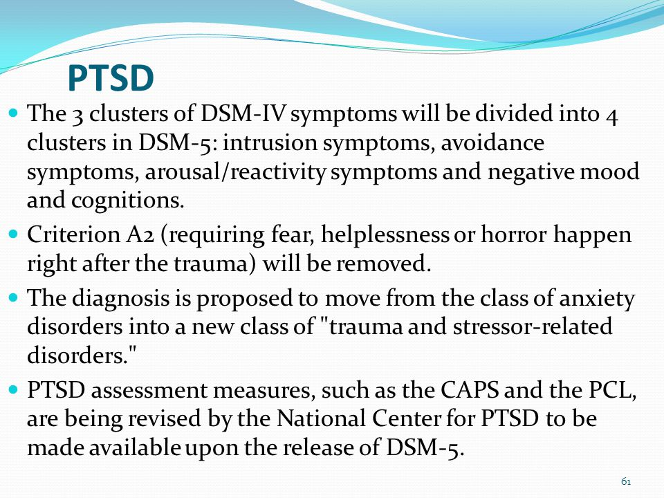 Anxiety Disorders The DSM-5 chapter on anxiety disorder no longer includes obsessive-compulsive disorder (which is included with the obsessive-compuls