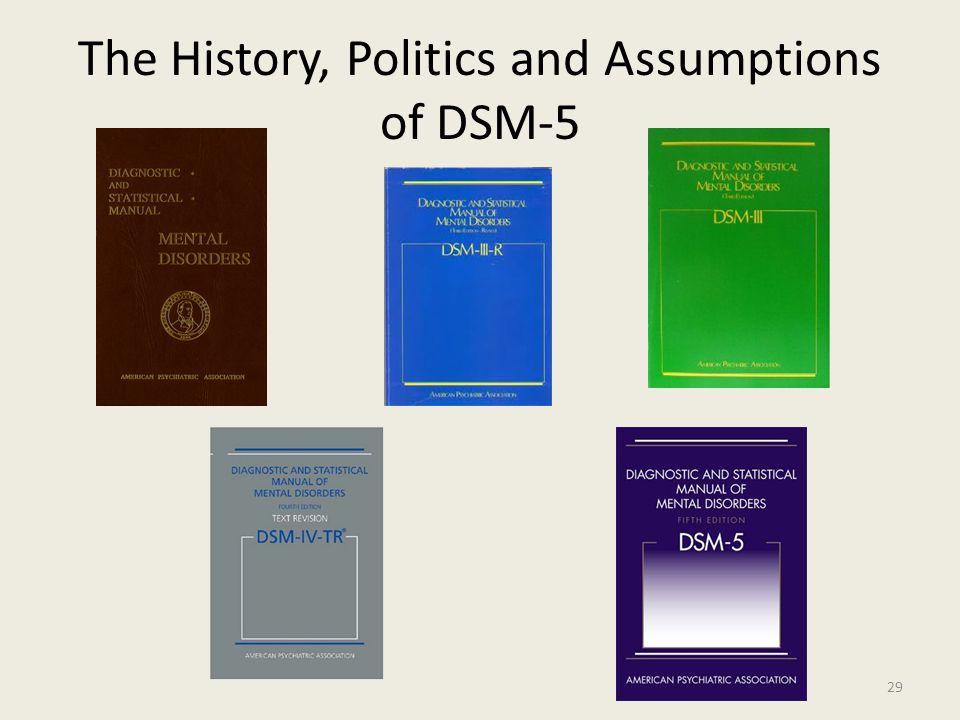 The History, Politics and Assumptions of DSM-5 29