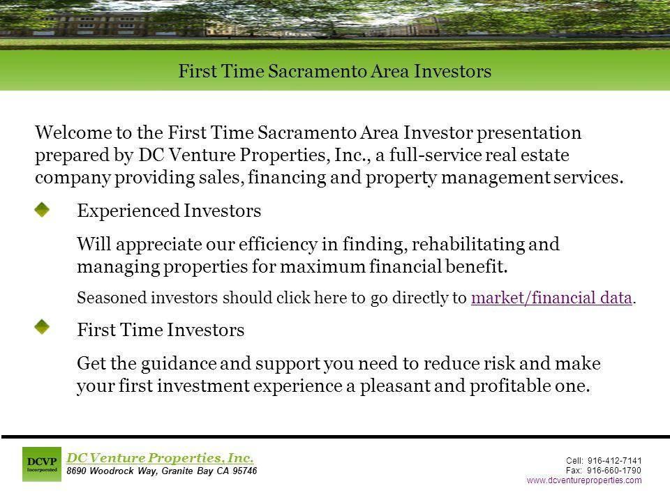 Cell: 916-412-7141 Fax: 916-660-1790 www.dcventureproperties.com DC Venture Properties, Inc.