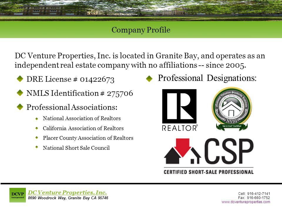 DC Venture Properties, Inc.