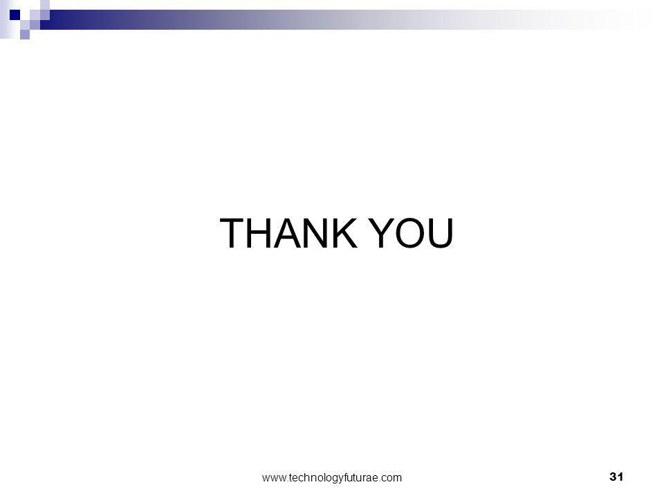 THANK YOU 31www.technologyfuturae.com