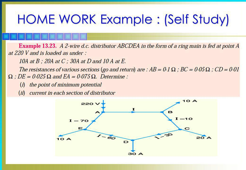 HOME WORK Example : (Self Study)