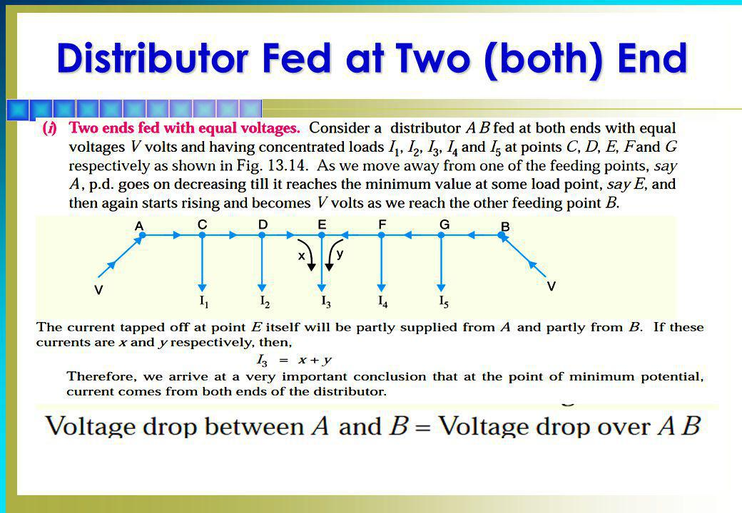 Distributor Fed at Two (both) End