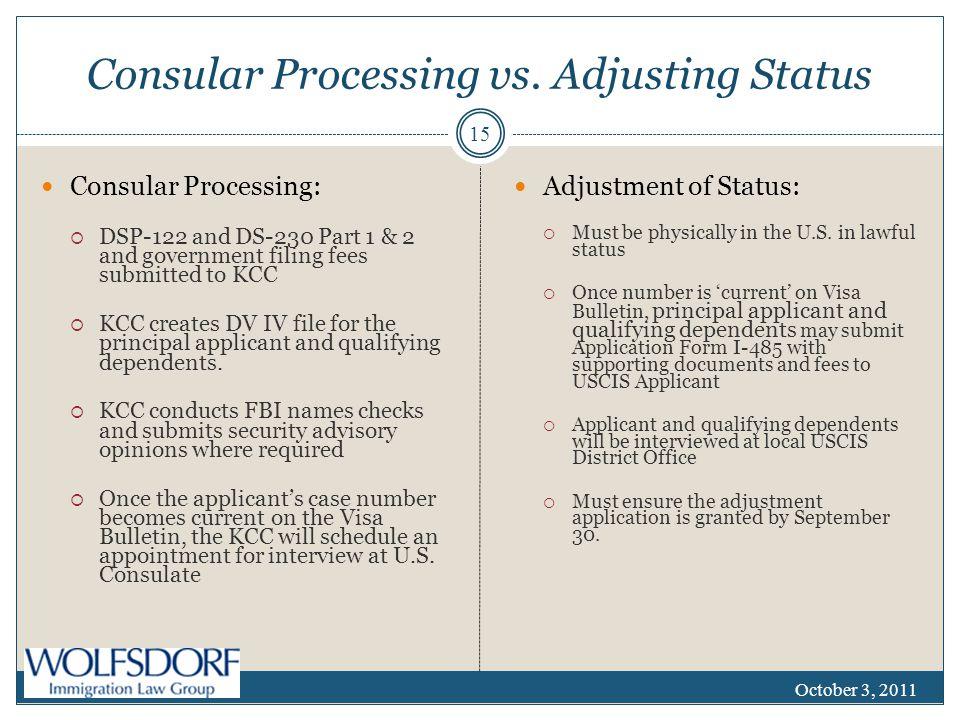 Consular Processing vs.