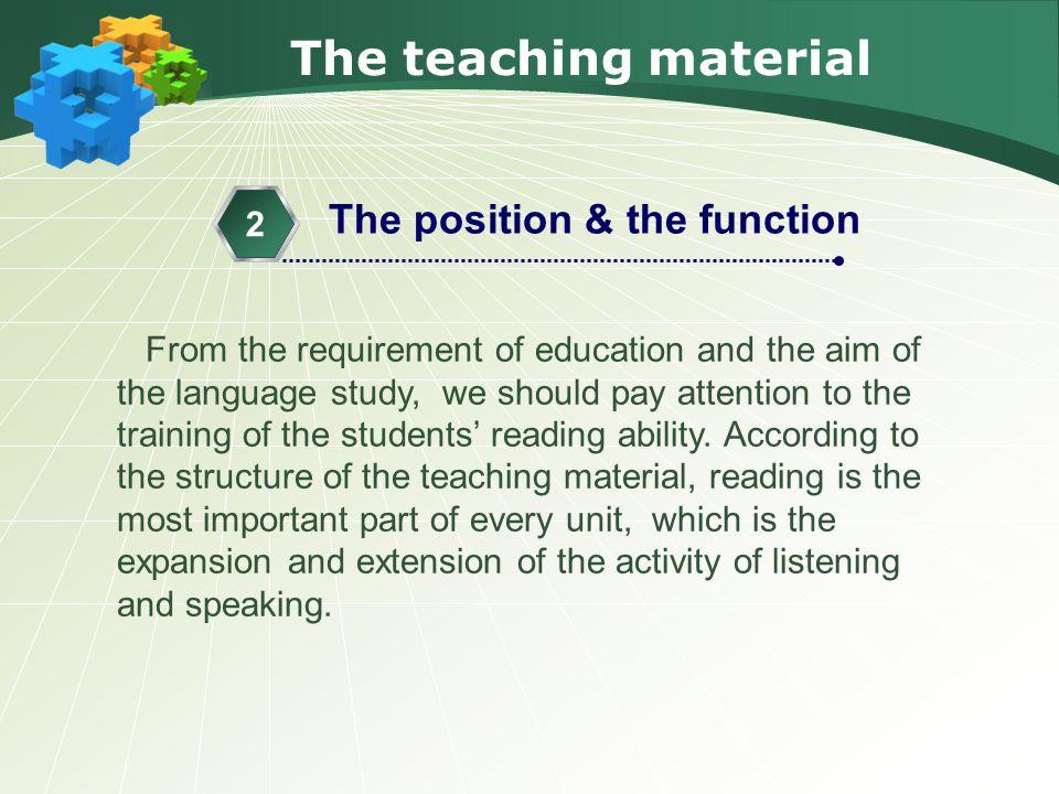 The teaching procedure Step 3 Reading 2.