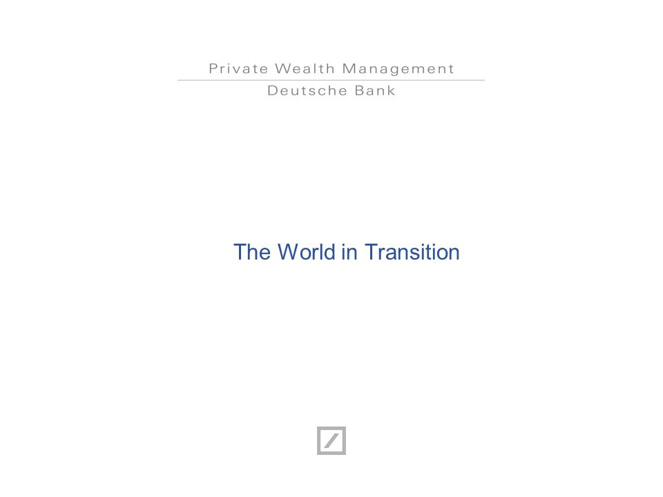The World in Transition