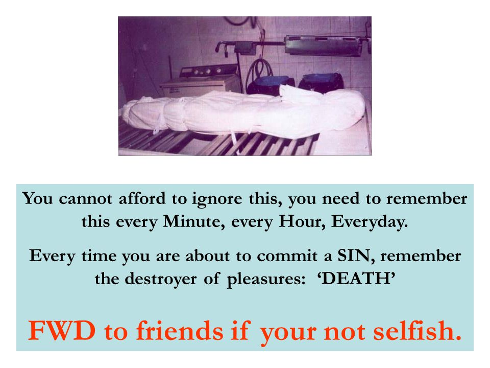 You cannot afford to ignore this, you need to remember this every Minute, every Hour, Everyday.