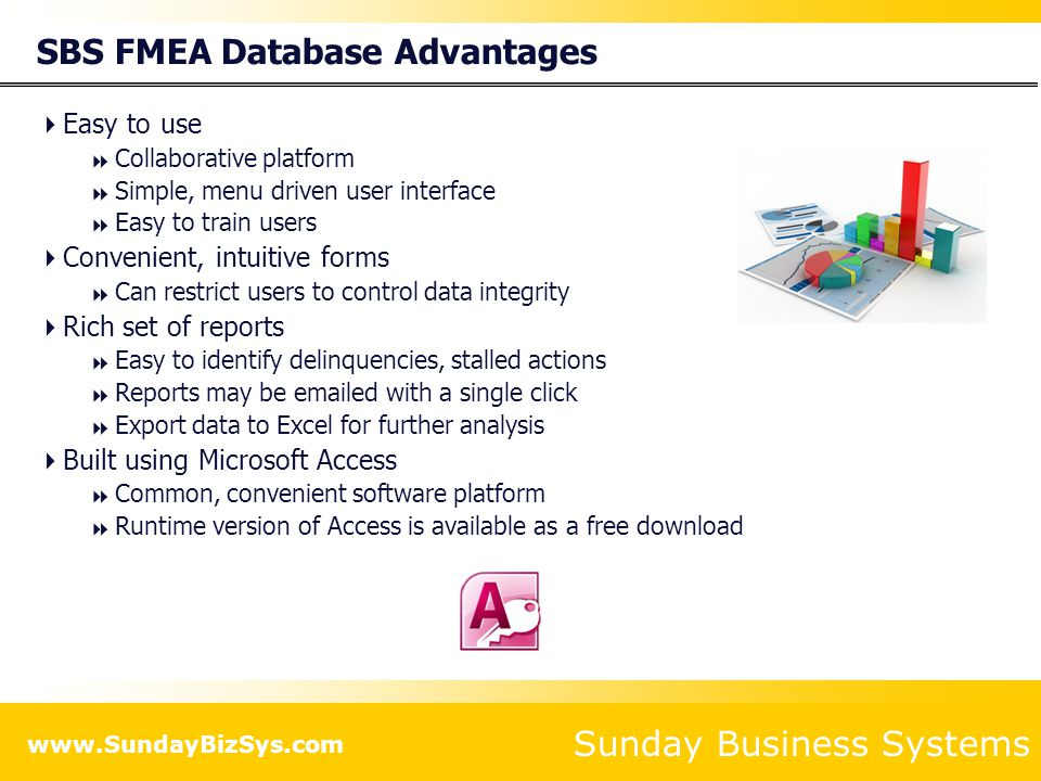 Sunday Business Systems SBS FMEA Database Using the SBS FMEA Database
