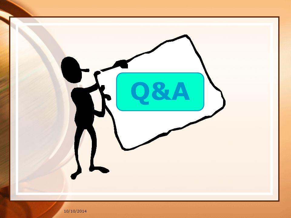 10/10/2014 Q&A
