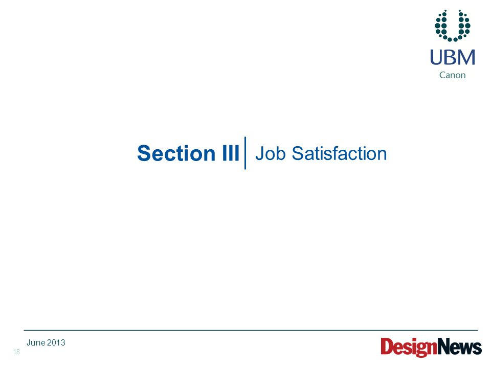 18 Section III Job Satisfaction June 2013