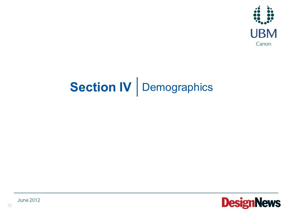 30 Section IV Demographics June 2012