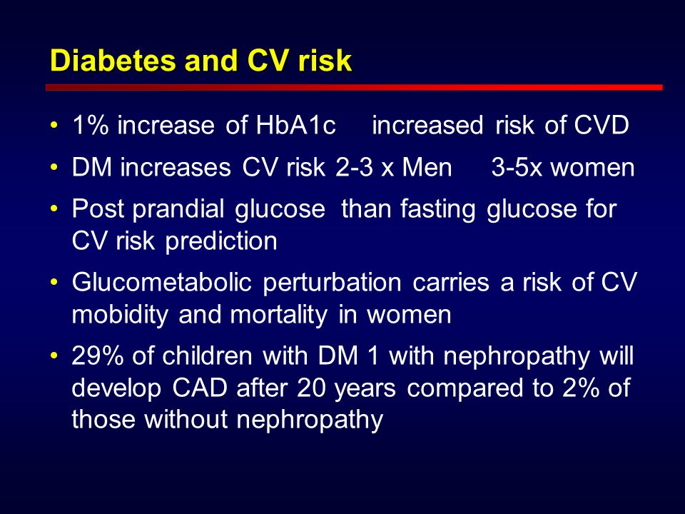 DM is a risk factor for SCD Diabetic patients have a higher incidence of cardiac arrhythmias, including ventricular fibrillation and sudden death Diabetic men and women have comparable coronary mortality DM and MI increases CVD and all cause mortality.Diabetic patients have a higher incidence of cardiac arrhythmias, including ventricular fibrillation and sudden death Diabetic men and women have comparable coronary mortality DM and MI increases CVD and all cause mortality.