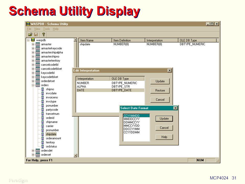 MCP402431 Schema Utility Display