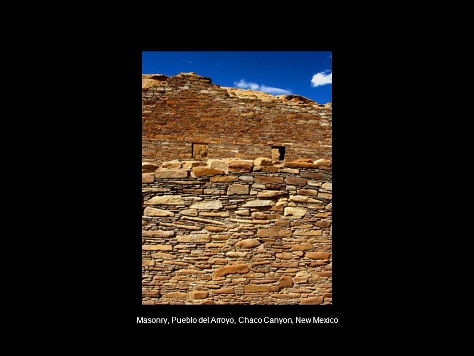 Masonry, Pueblo del Arroyo, Chaco Canyon, New Mexico