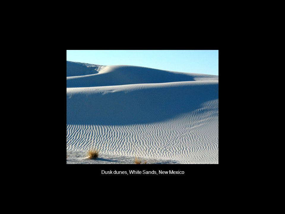Dusk dunes, White Sands, New Mexico