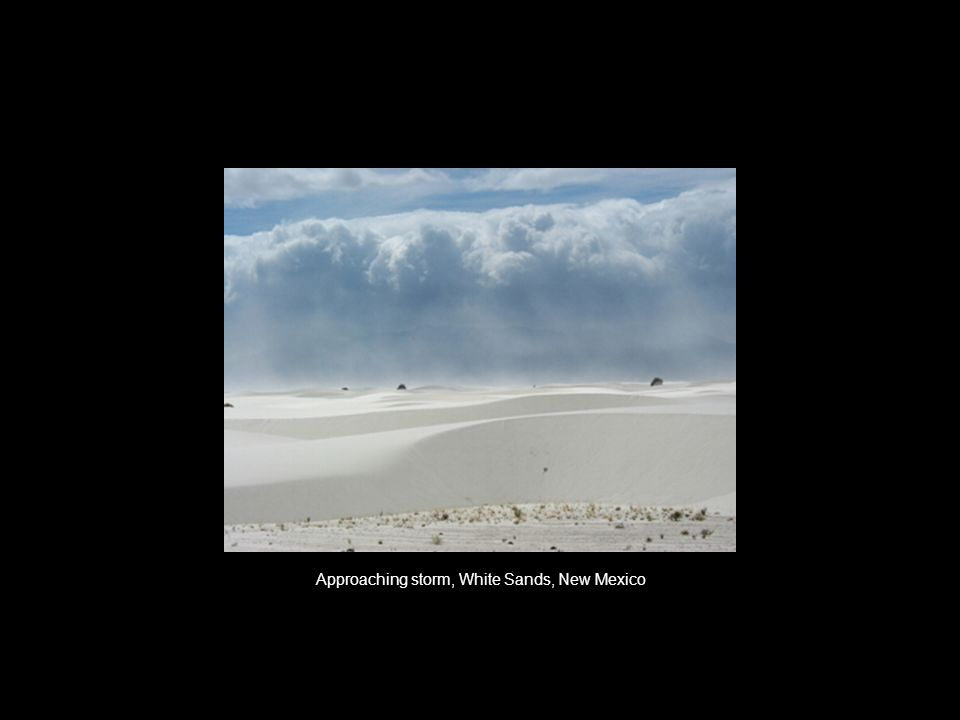 Approaching storm, White Sands, New Mexico