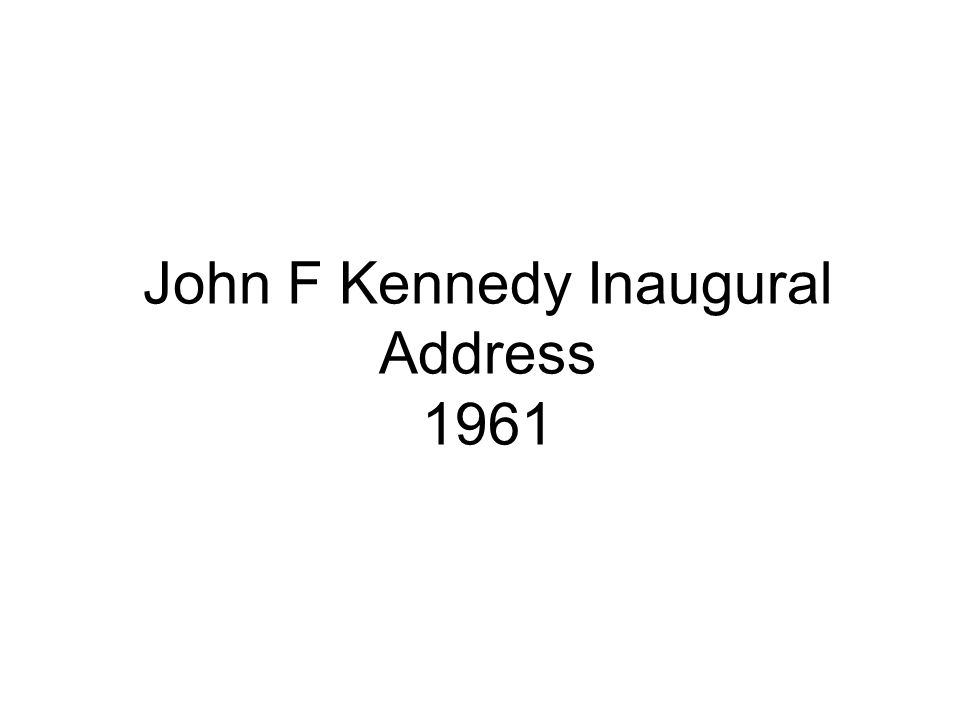 Speaker John F Kennedy Youngest and 1 st Catholic President Had a large position he had to pull during the Cold War