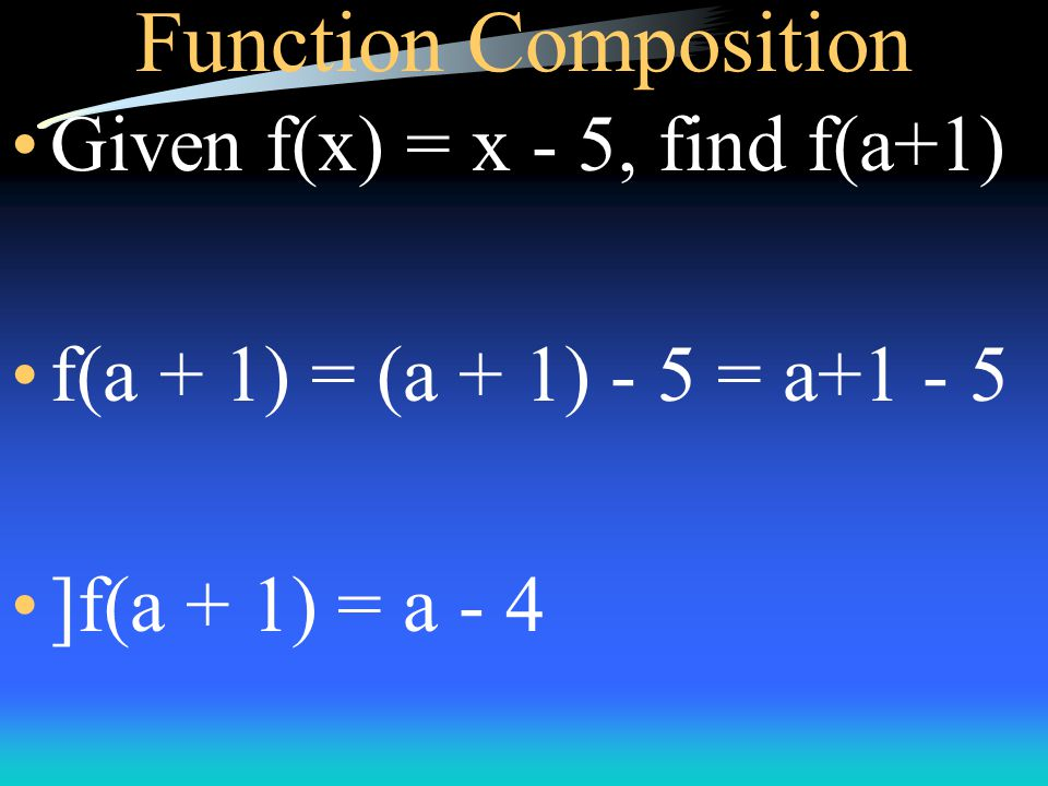 Function Composition Given f(x) = 2x + 5 and g(x) = 8 + x, find g(f(-5)).