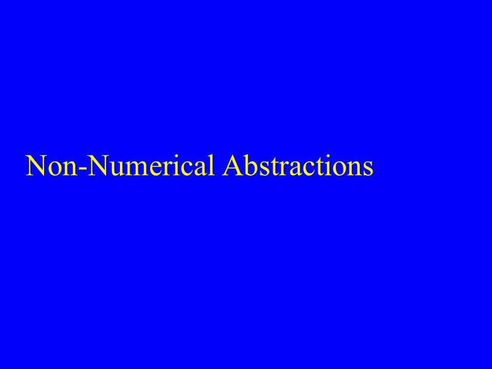 Non-Numerical Abstractions