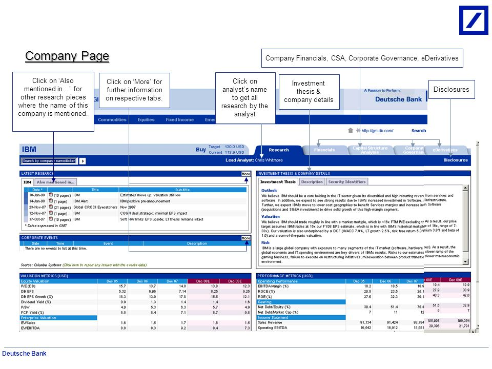 Deutsche Bank Independent Research Quick search using ticker/company/analyst Advanced search Search by countries and regions DB Estimates Regions and Countries List