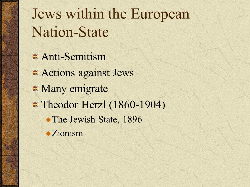 Anti-Semitism in Austria and Germany Karl Lueger (Vienna) German Nationalism blamed Jews for the Corruption of German Culture Adolf Hitler Developed his world view which was based on violten German nationalism and rabid anti-Semitism.