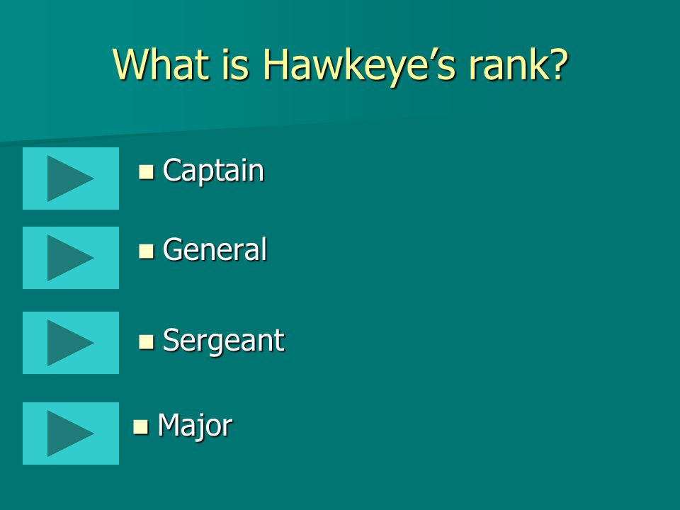 What is Hawkeye Pierce's middle name in MASH.