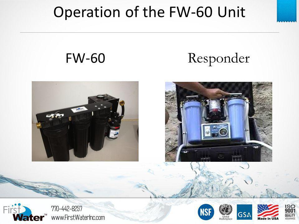 Responder FW-60 Operation of the FW-60 Unit
