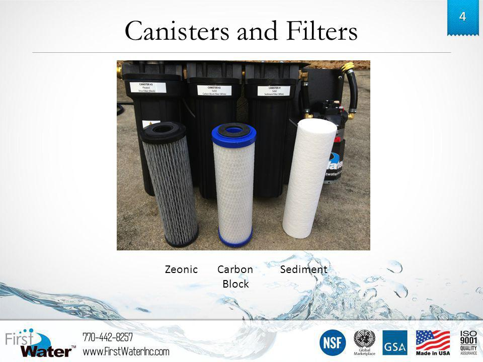 Canisters and Filters 4 ZeonicCarbon Block Sediment