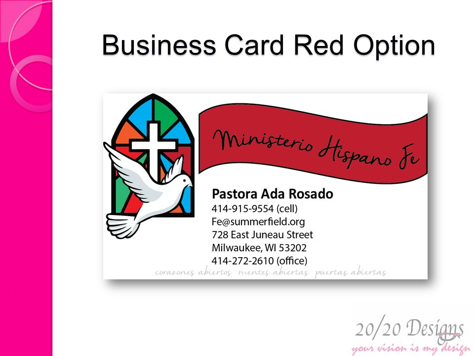 Business Card Red Option