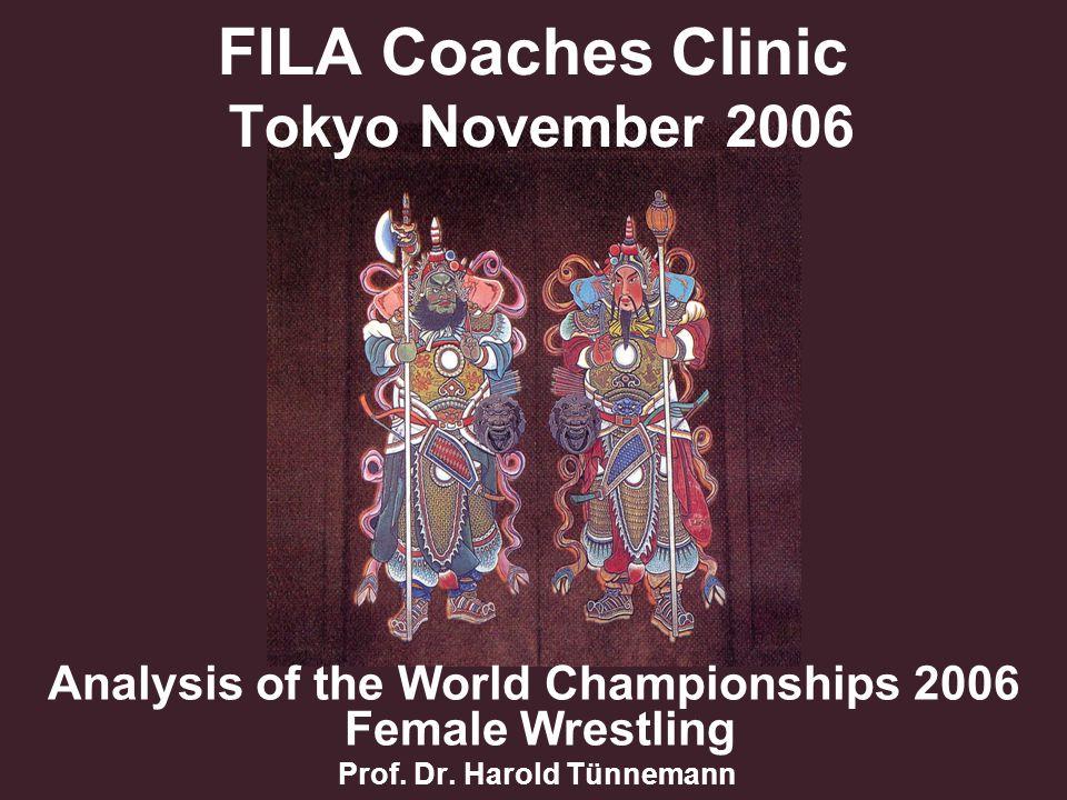 FILA Coaches Clinic Tokyo November 2006 Analysis of the World Championships 2006 Female Wrestling Prof.