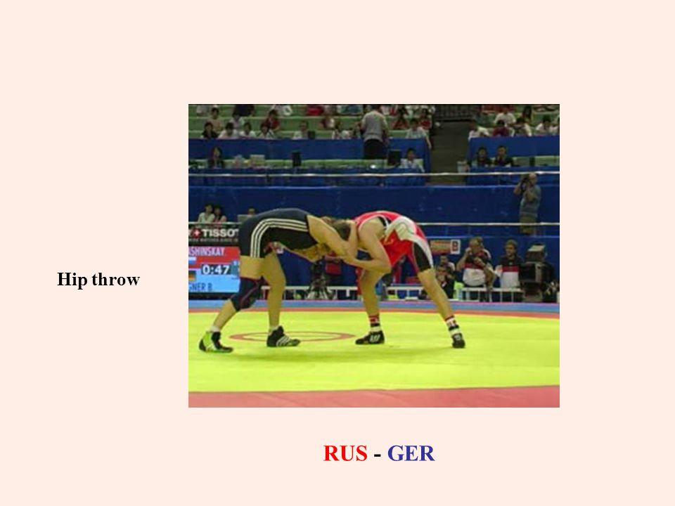 Hip throw RUS - GER