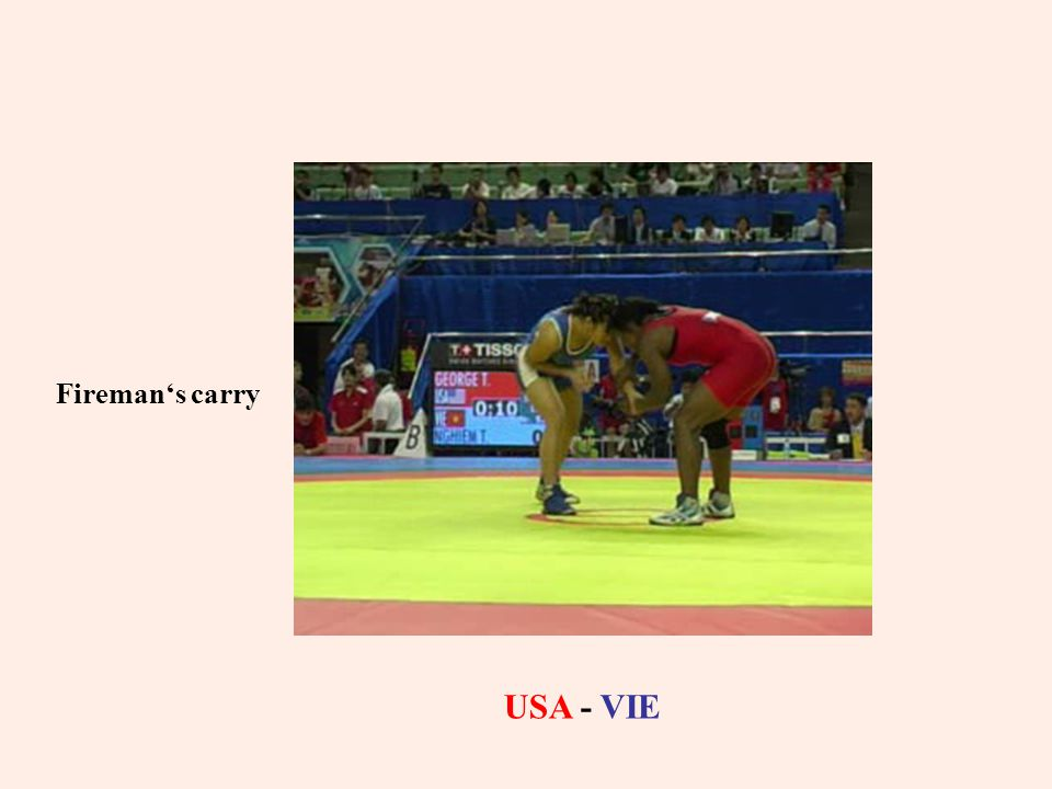Fireman's carry USA - VIE