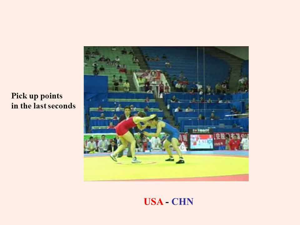USA - CHN Pick up points in the last seconds
