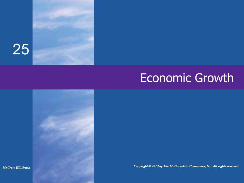 Economic Growth 25 McGraw-Hill/Irwin Copyright © 2012 by The McGraw-Hill Companies, Inc.