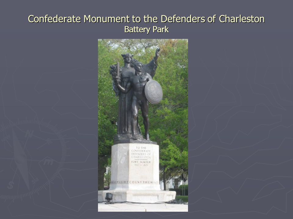 Confederate Monument to the Defenders of Charleston Battery Park