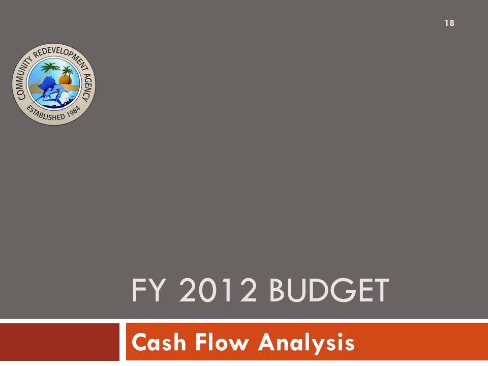 FY 2012 BUDGET Cash Flow Analysis 18