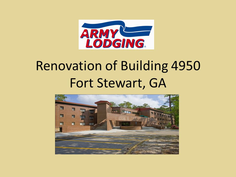 Renovation of Building 4950 Fort Stewart, GA