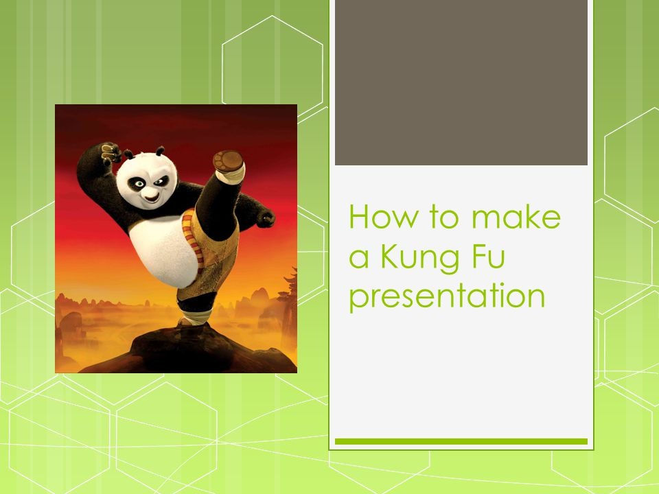 The Real Kung Fu Fighter  Fights for a purpose